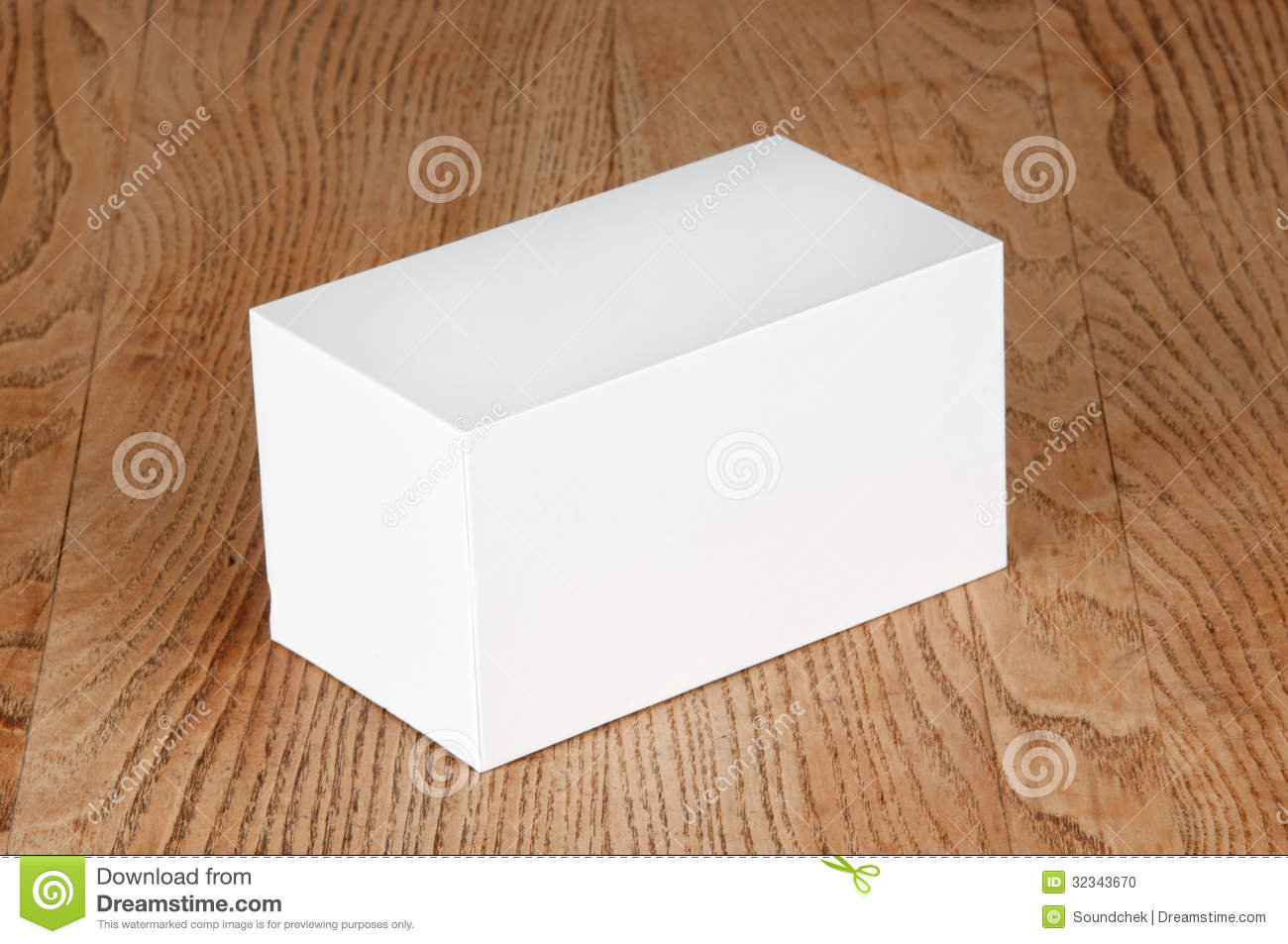 large white box on the table stock photo image of white. Black Bedroom Furniture Sets. Home Design Ideas