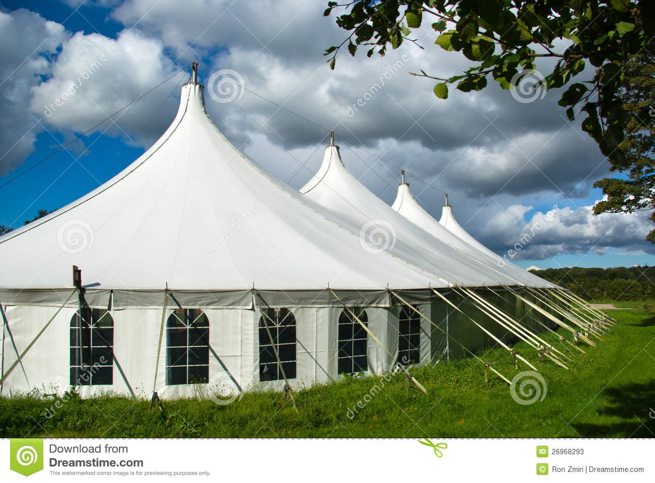 Large white party tent & Large white party tent stock image. Image of dinner decoration ...