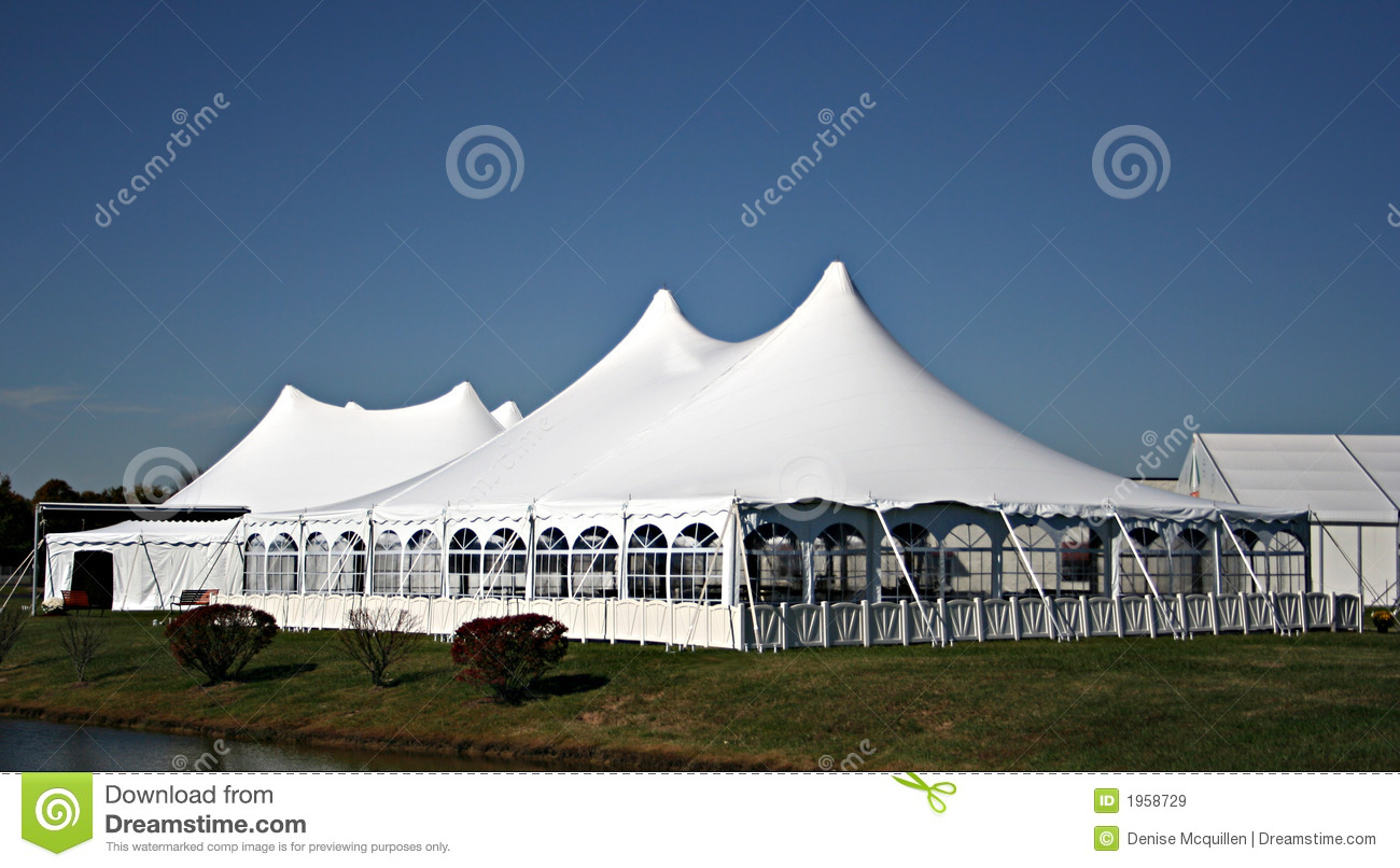 Large White Wedding Tent & Large White Wedding Tent stock image. Image of enclosed - 1958729