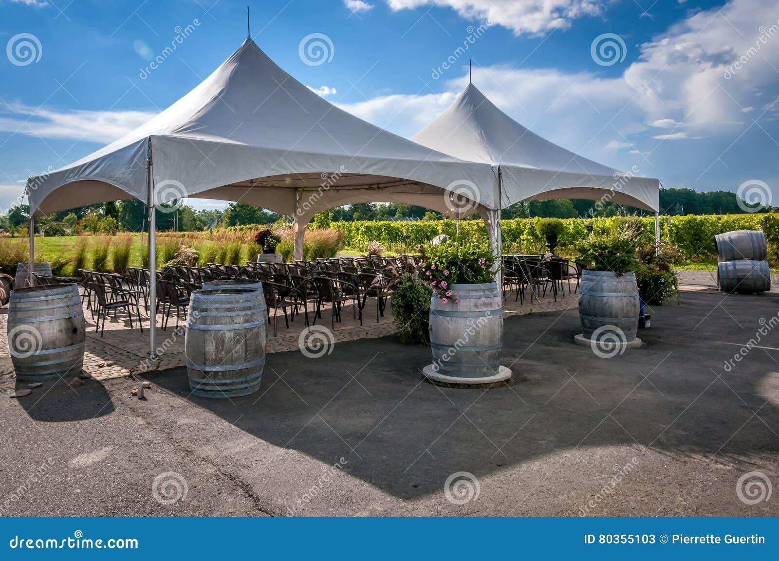 Large White Wedding Tent Royalty Free Stock Photography