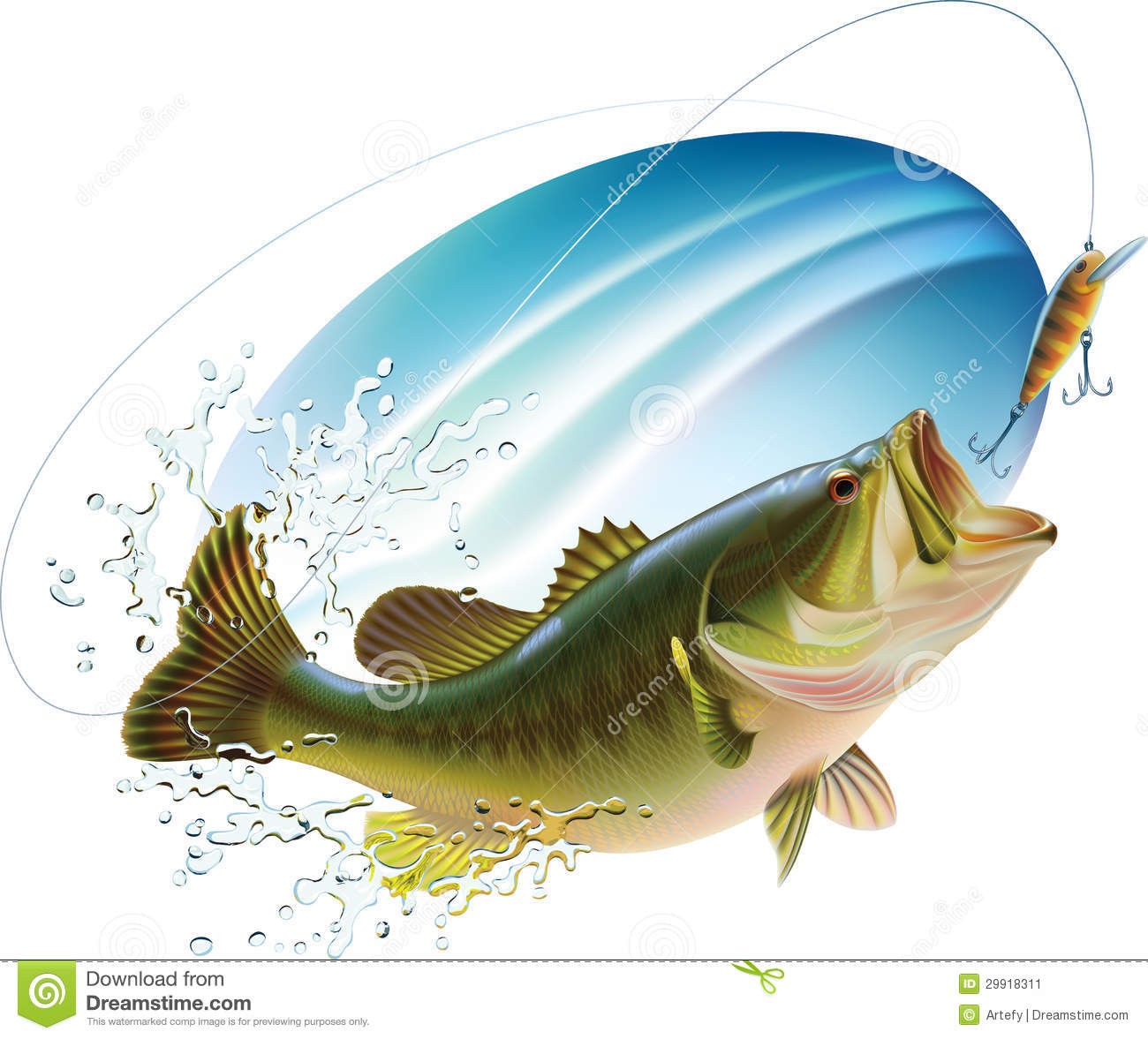 Photo collection bass fish jumping for for Dream about fish out of water