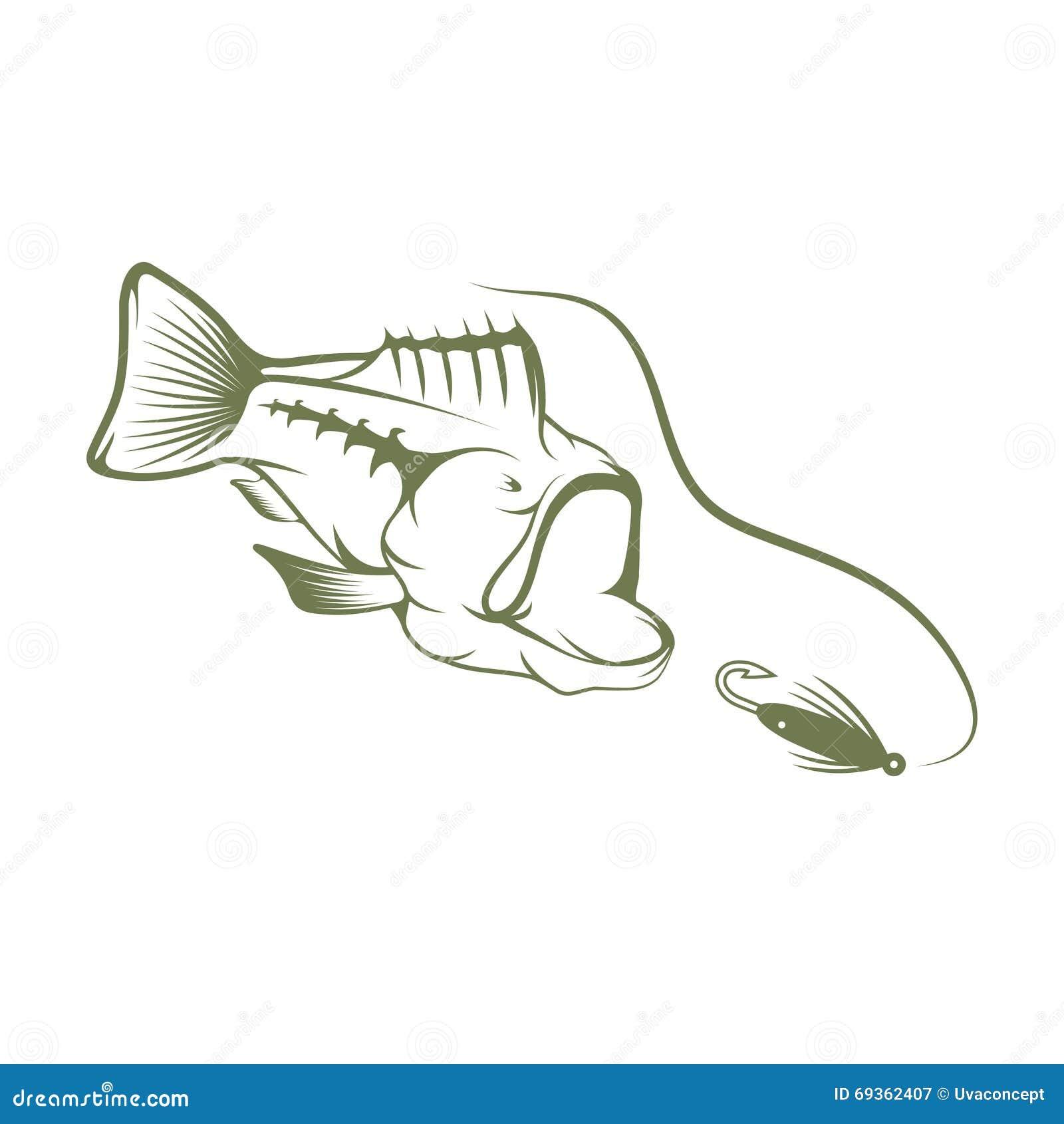 largemouth bass template - photo #15