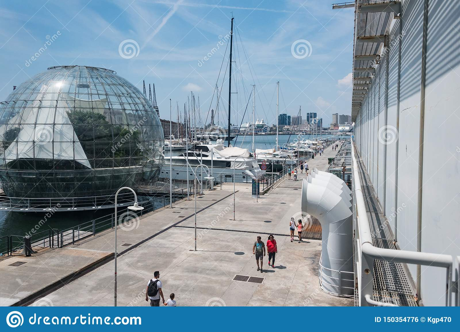 The largest Aquarium in Europe. On the left side - biosphere green house.