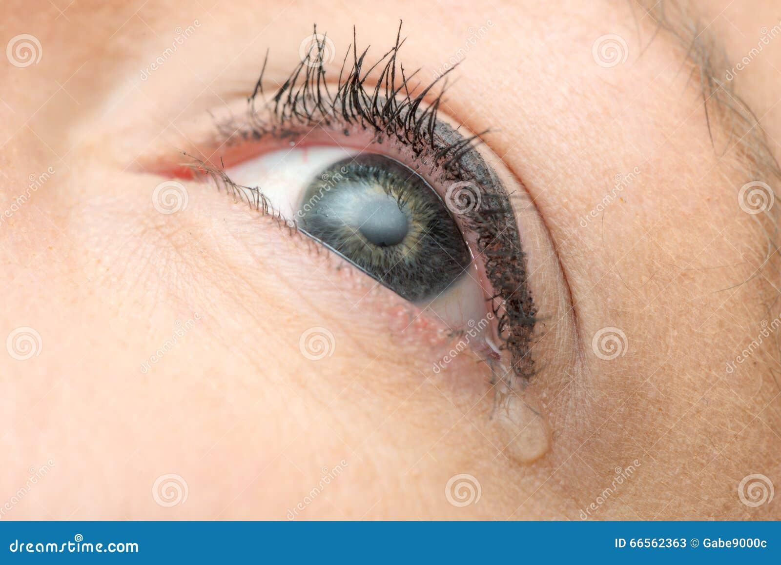 Femme En Larme larme de l'oeil de la femme image stock - image du regard, femme