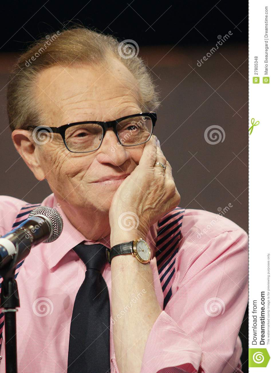 Larry King Fotografia Stock Editoriale - larry-king-27805348