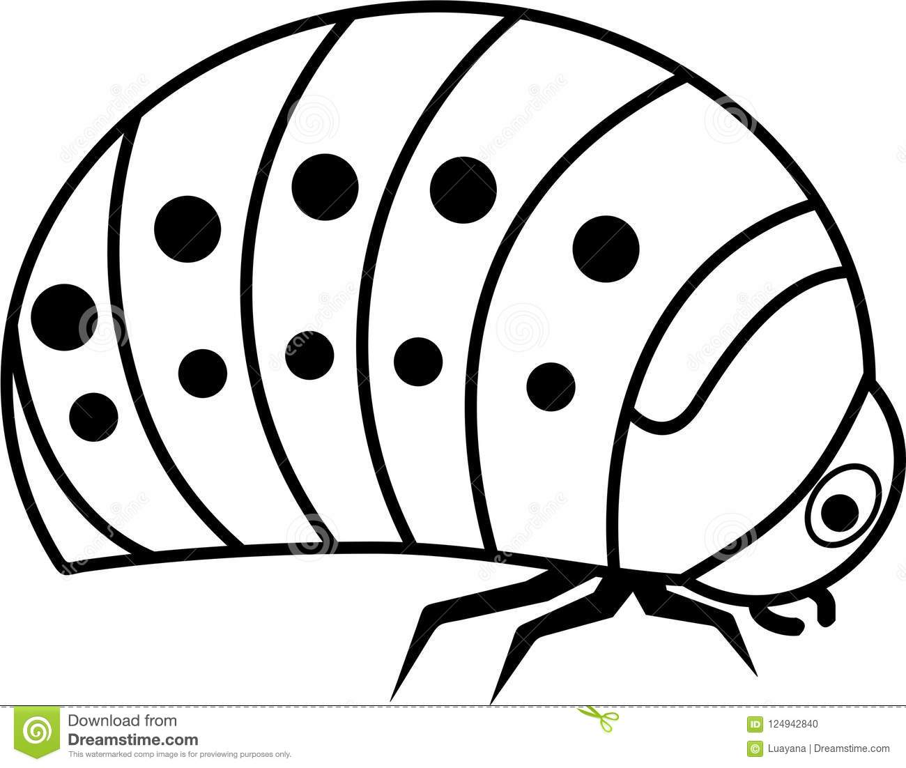 Larva Cartoon Coloring Pages Www Topsimages Com
