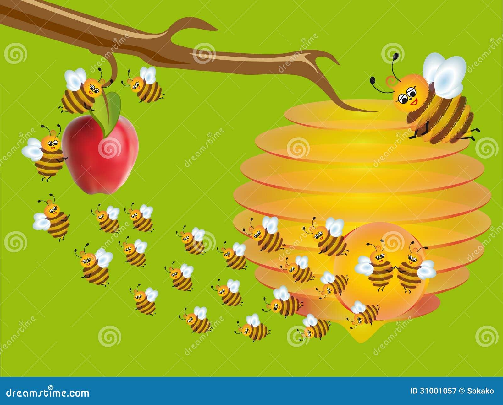Las abejas trabajadoras en el jard n fotograf a de for Ahuyentar abejas jardin