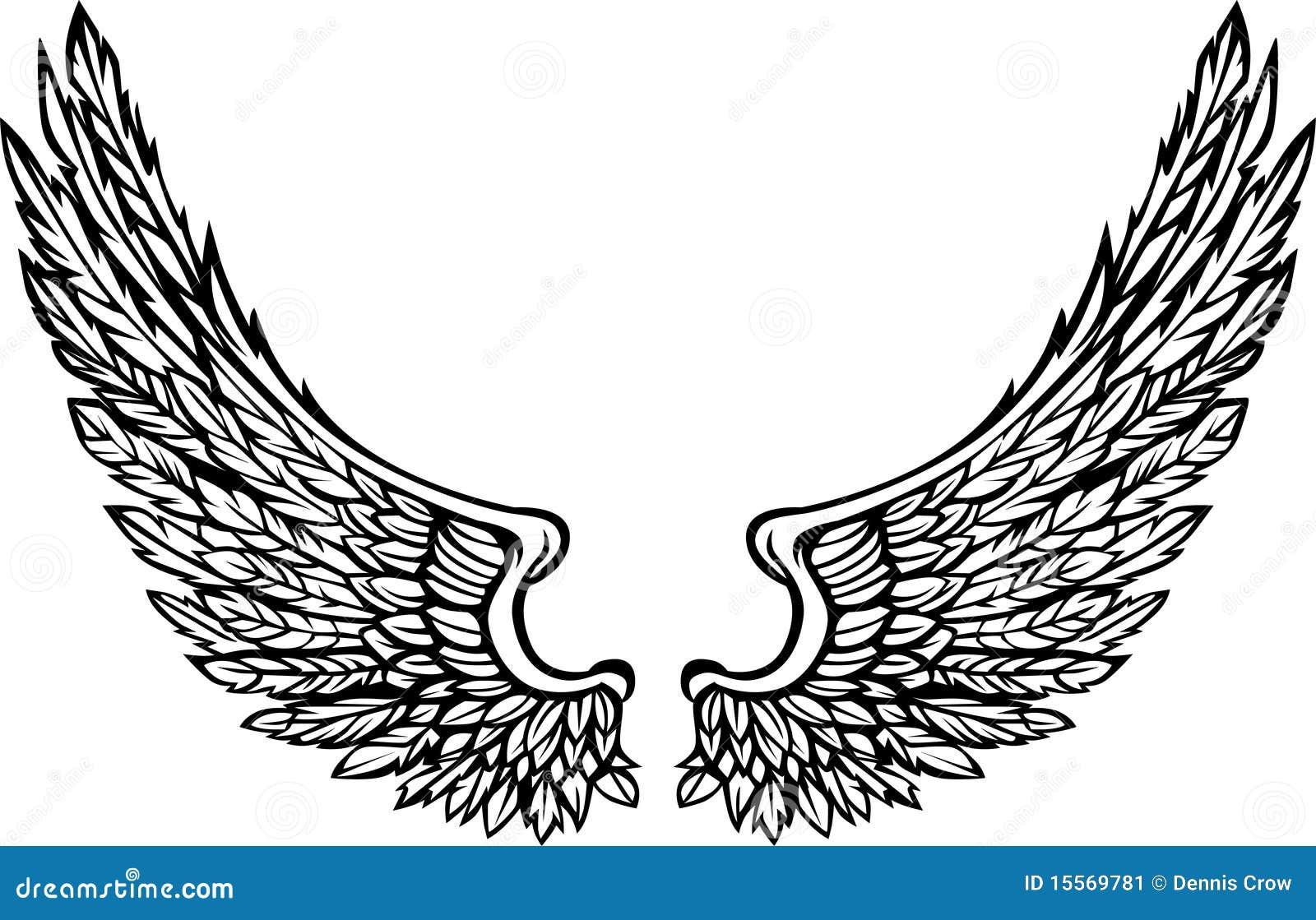 las alas adornadas vector imagen ilustraci243n del vector