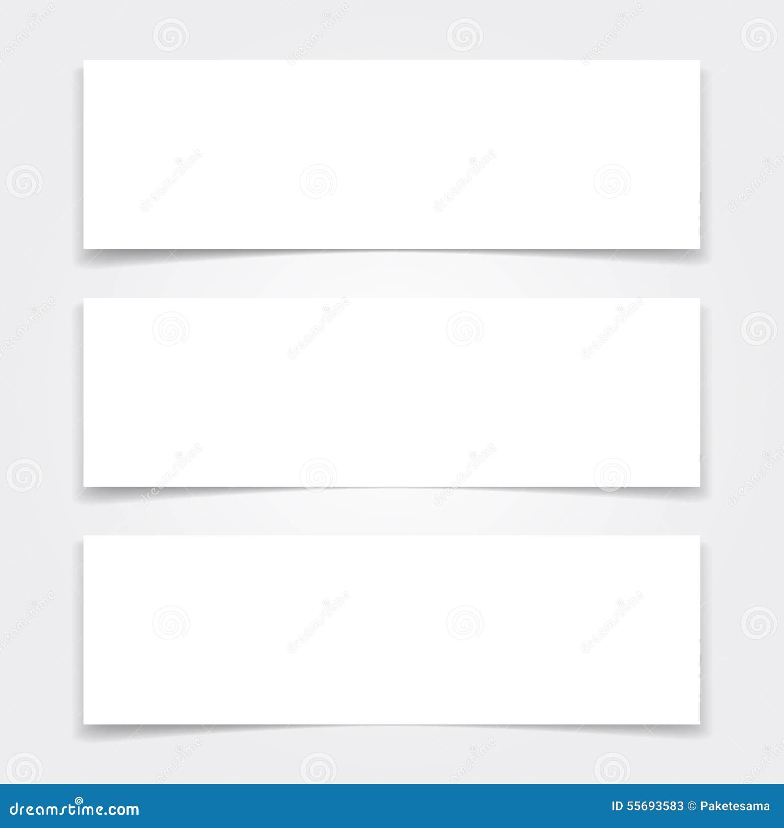 Las Banderas En Blanco Imitan Encima De Sistema Ilustración del ...