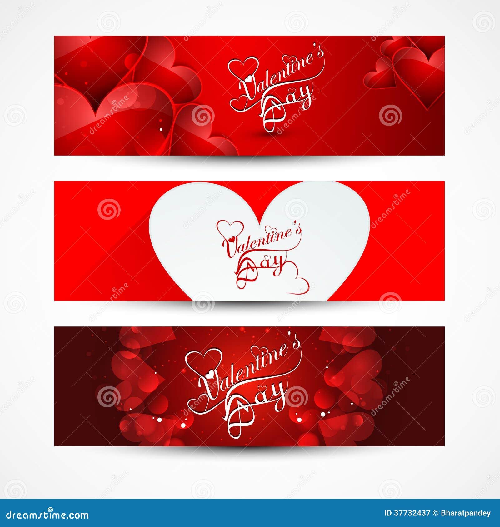Las banderas o los jefes del día de tarjeta del día de San Valentín fijaron colorido