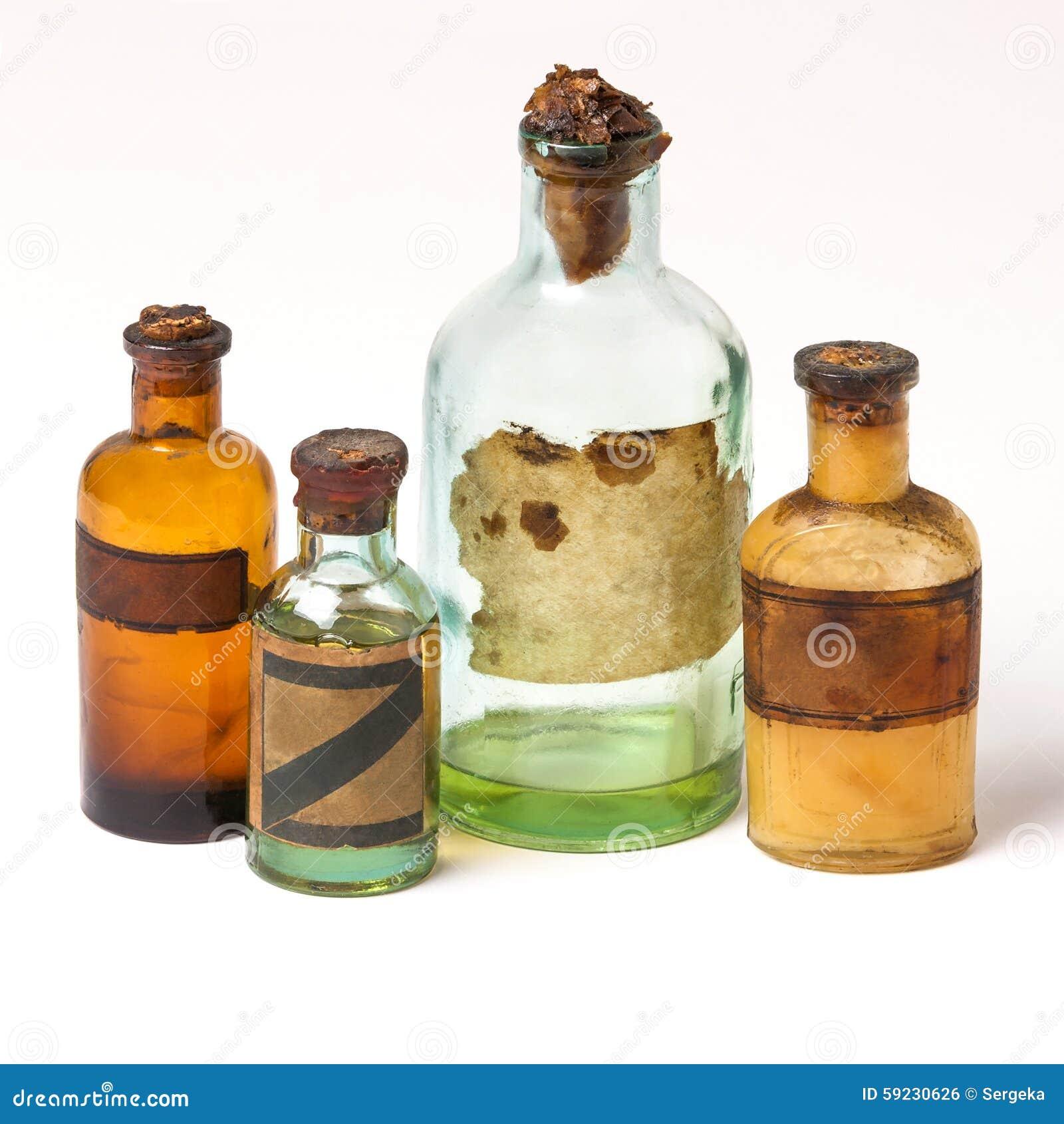 Download Las Botellas Viejas De La Farmacia Foto de archivo - Imagen de tableware, fondo: 59230626