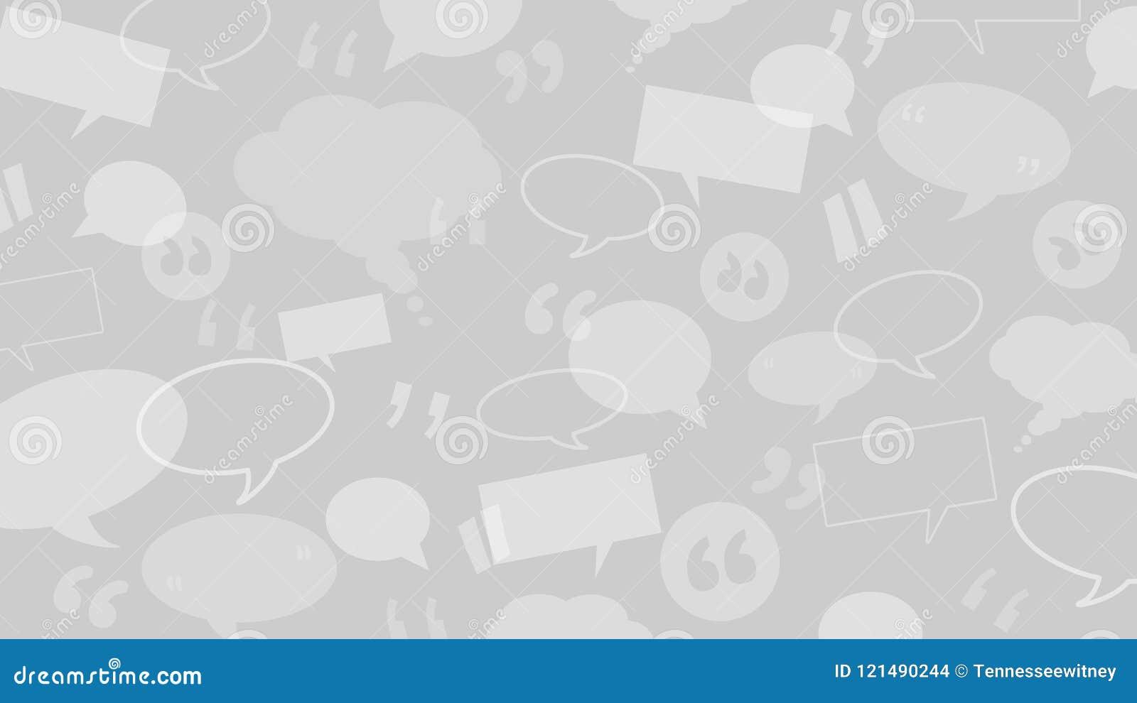 Las burbujas del discurso y del pensamiento con cita marcan conveniente como ejemplo del fondo para los certificados del cliente/