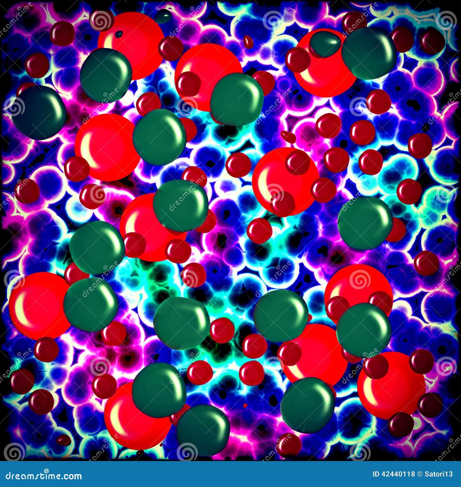 Las células de las bacterias se cierran para arriba