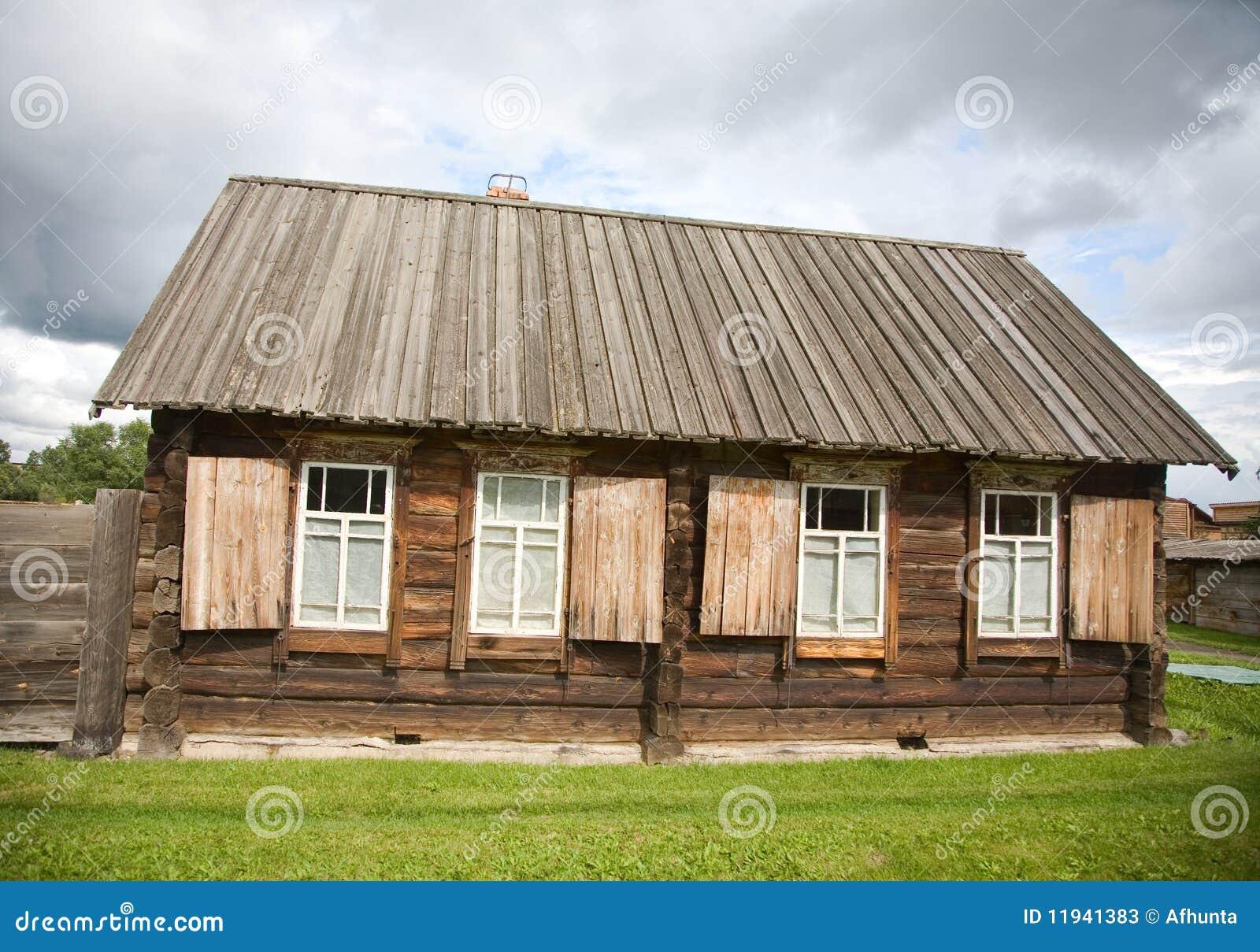 Las casas de madera viejas fotos de archivo imagen 11941383 - Propiedades de la madera ...