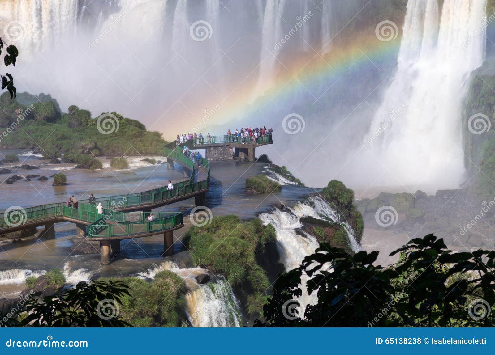 Las cataratas del Iguazú, el Brasil, la Argentina