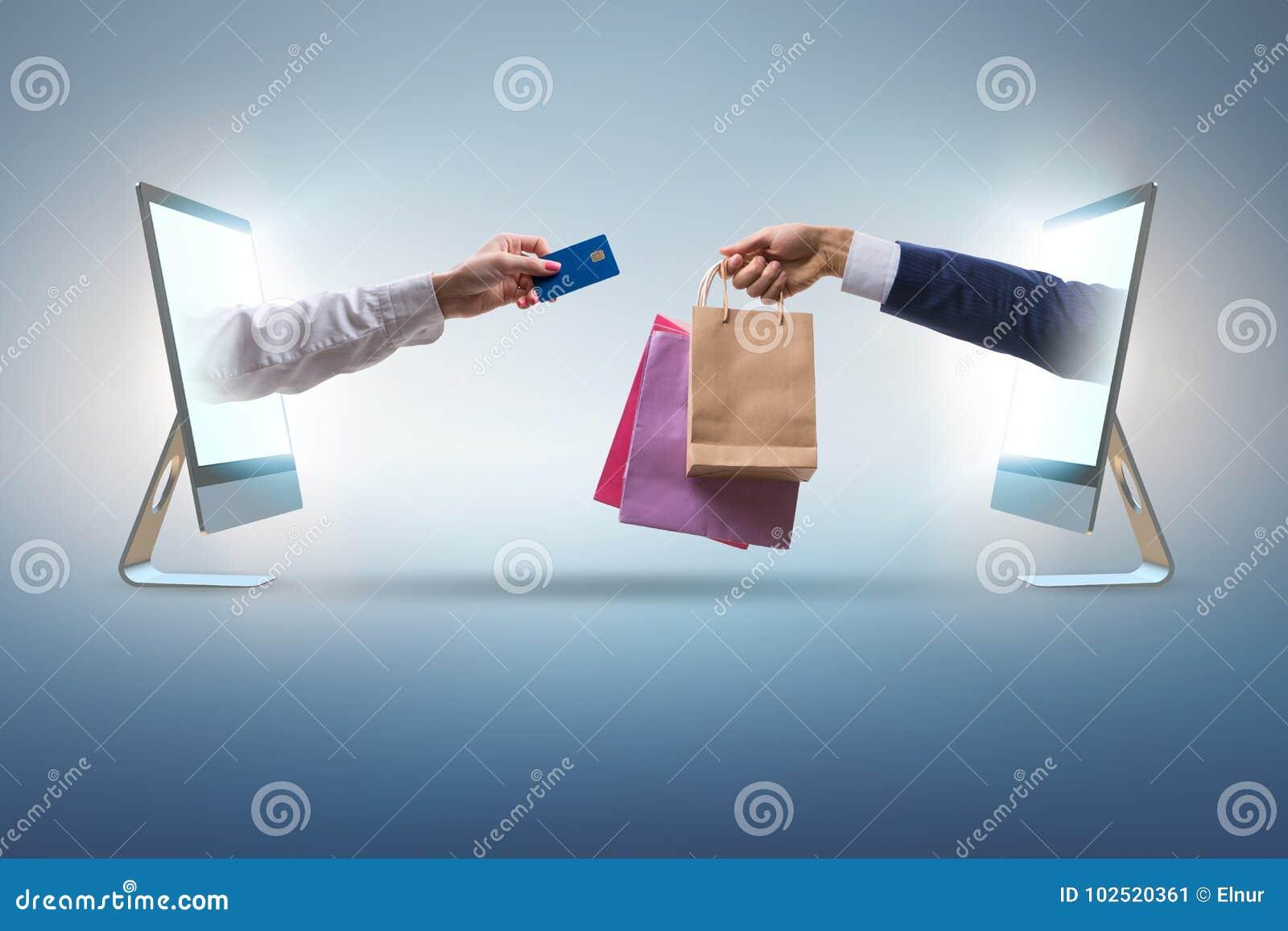 Las compras en línea con la compra de Internet