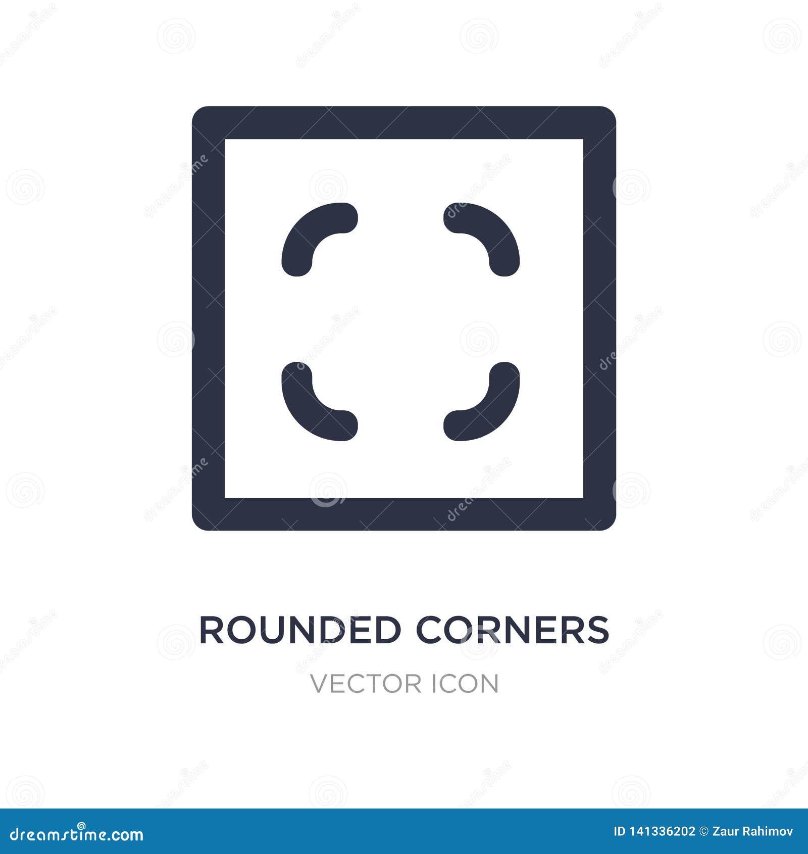 Las esquinas redondeadas ajustan el icono en el fondo blanco Ejemplo simple del elemento del concepto de UI