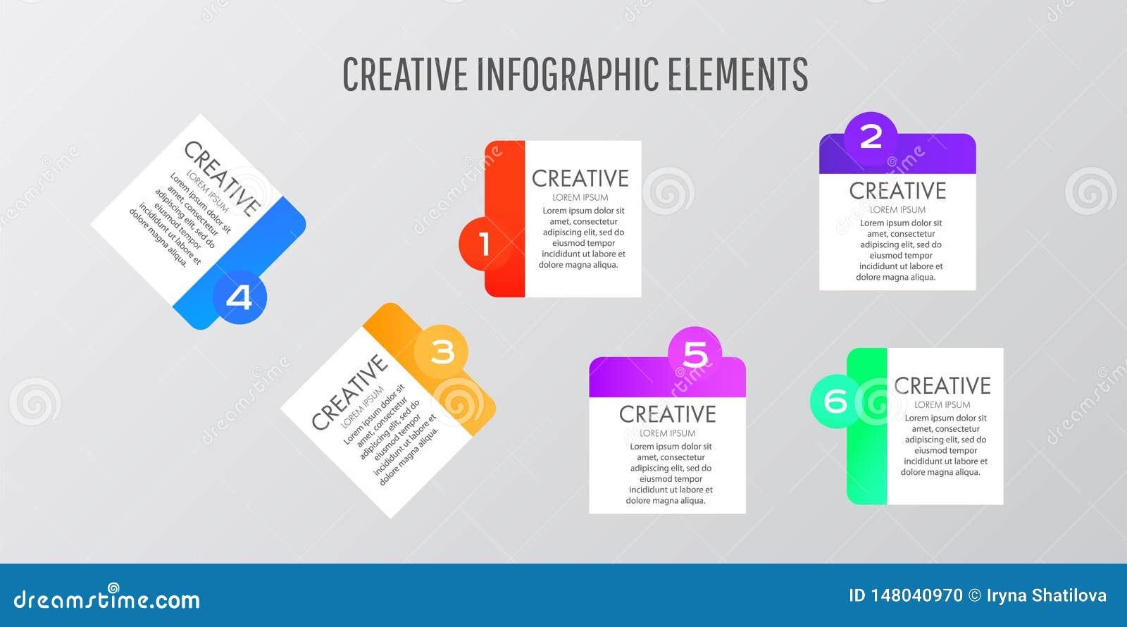 Las etiquetas engomadas de la plantilla del diseño moderno se pueden utilizar para el infographics, las banderas, el gráfico o el