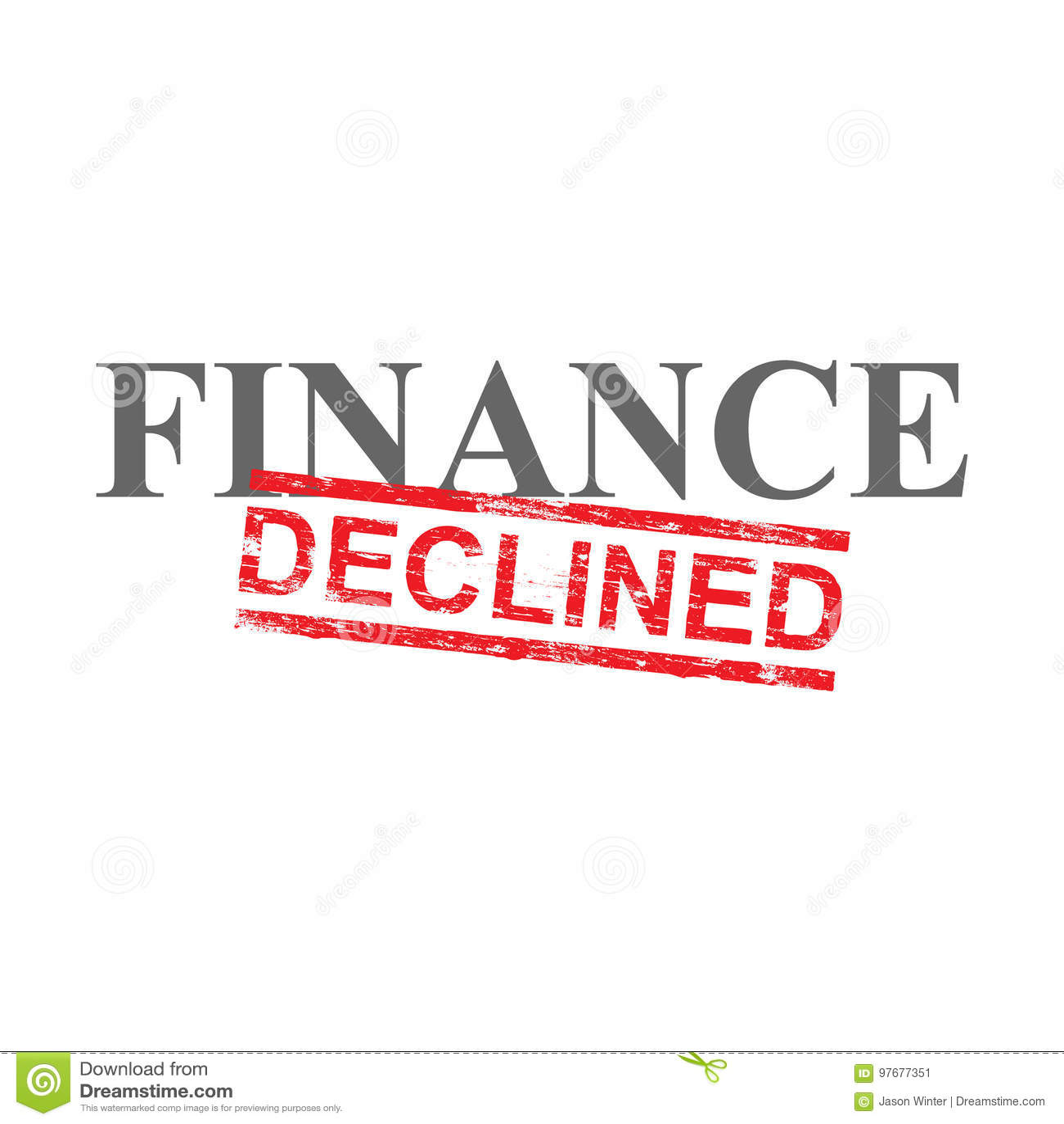 Las finanzas disminuyeron el sello de la palabra