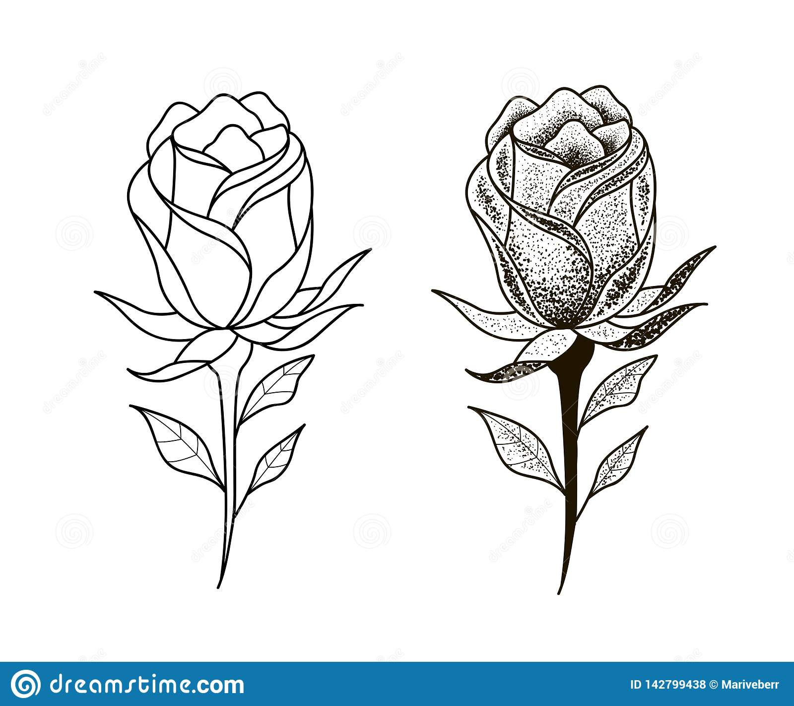 Las flores del tatuaje fijaron el trabajo del punto