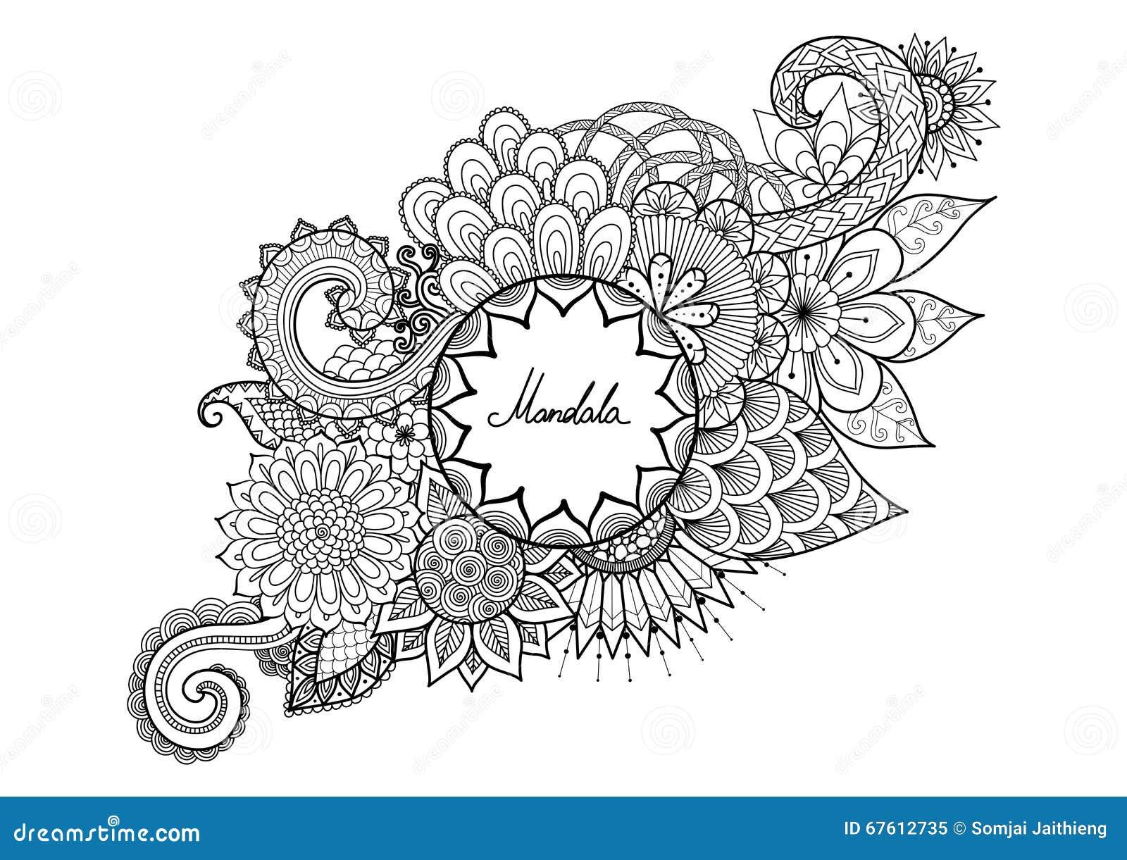 Las Flores Ornamentales Con El Espacio De La Copia Para Su Texto ...