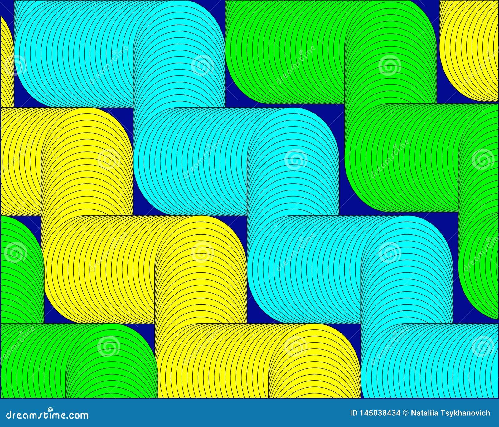Las formas amarillas verdes claras resumen el fondo moderno geom?trico