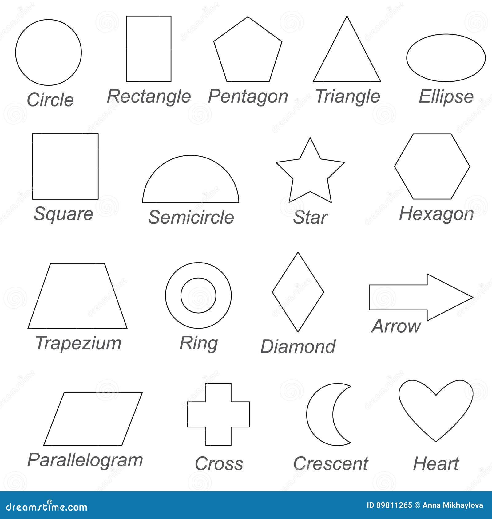 Las Formas Y Las Formas Geométricas Fijaron, La Página Grande Que Se ...