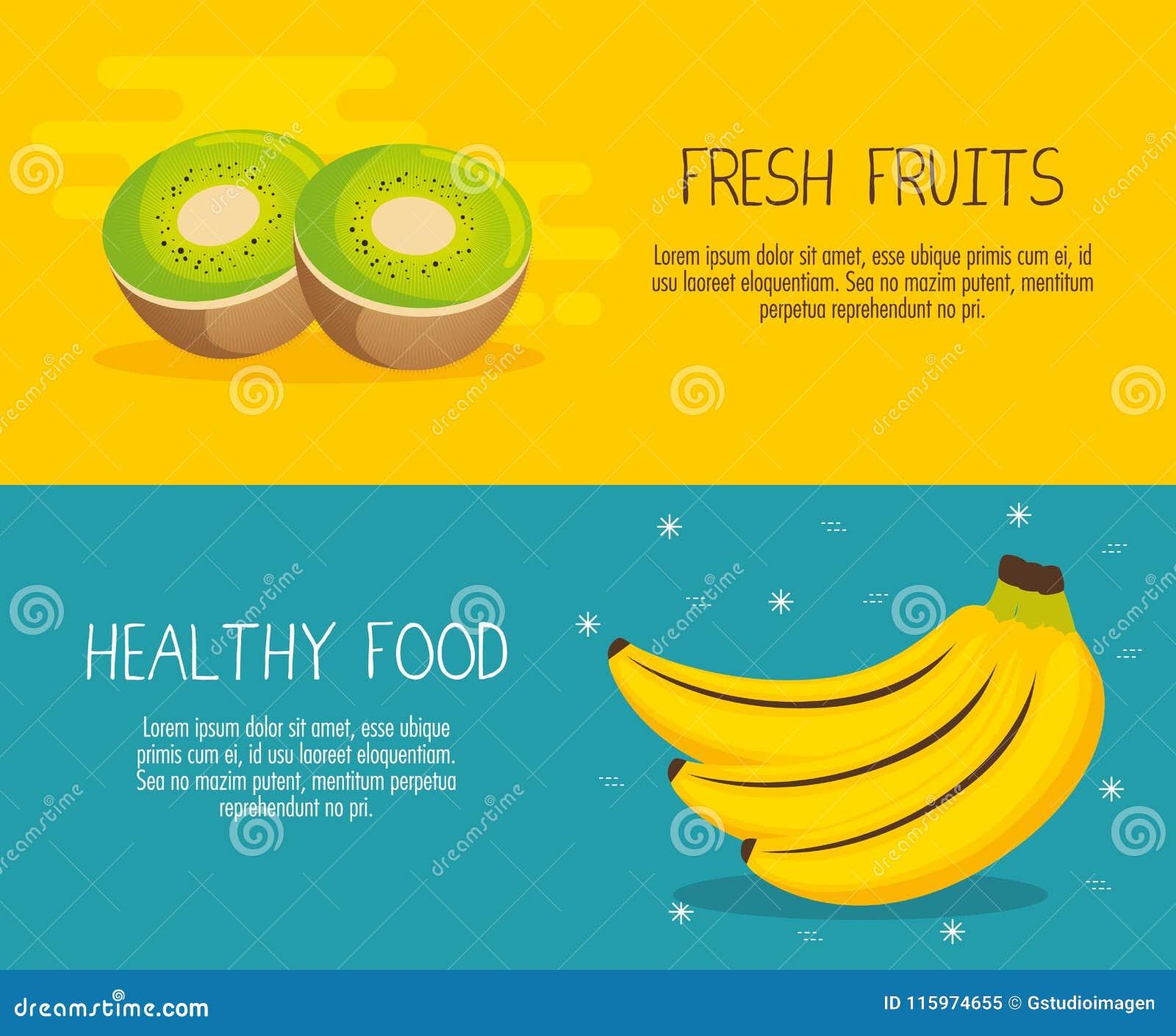 Las frutas agrupan con hechos de la nutrición
