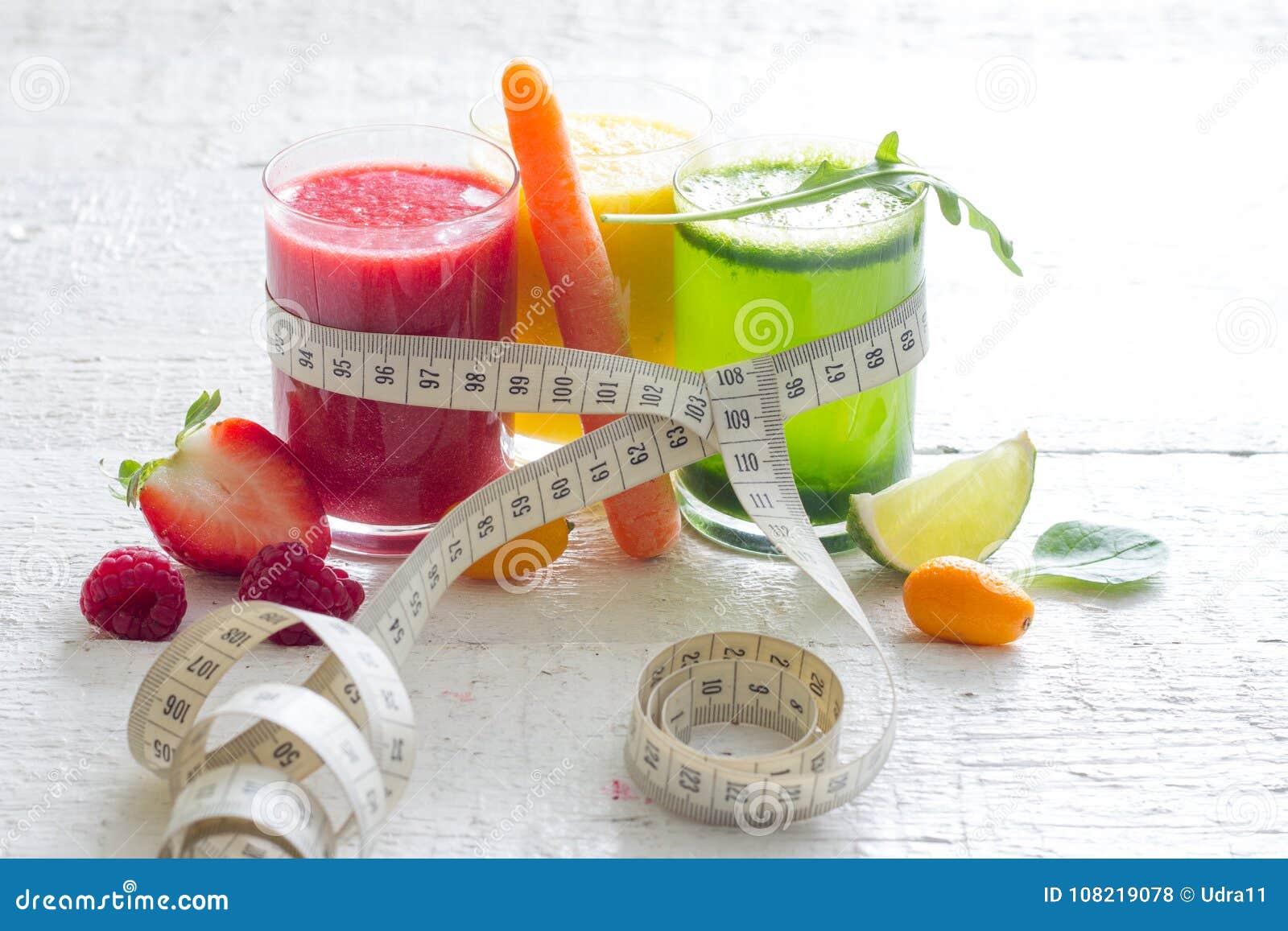 Dieta con jugos de frutas y verduras