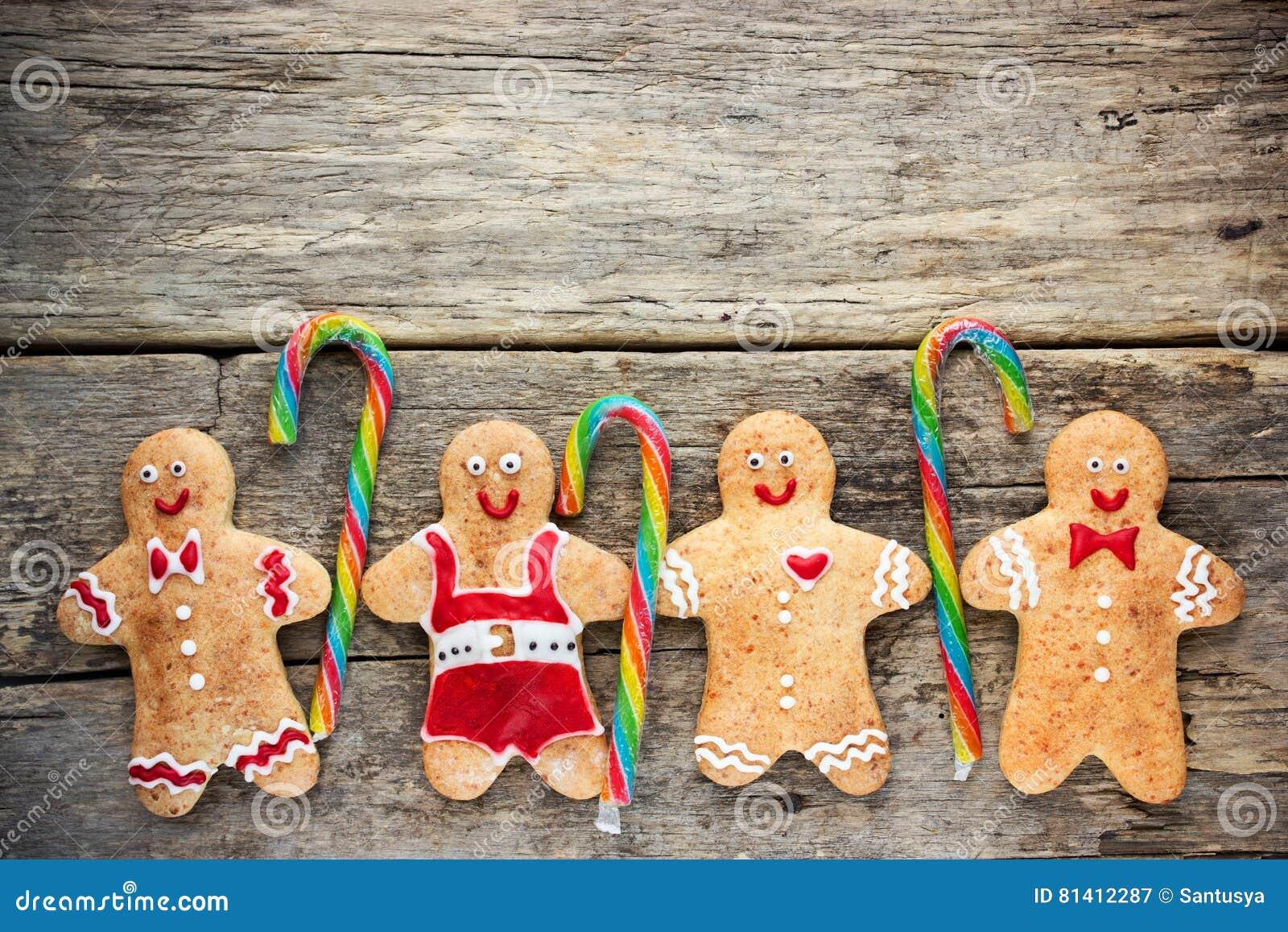 Las Galletas Hechas En Casa Del Pan De Jengibre De La Navidad ...
