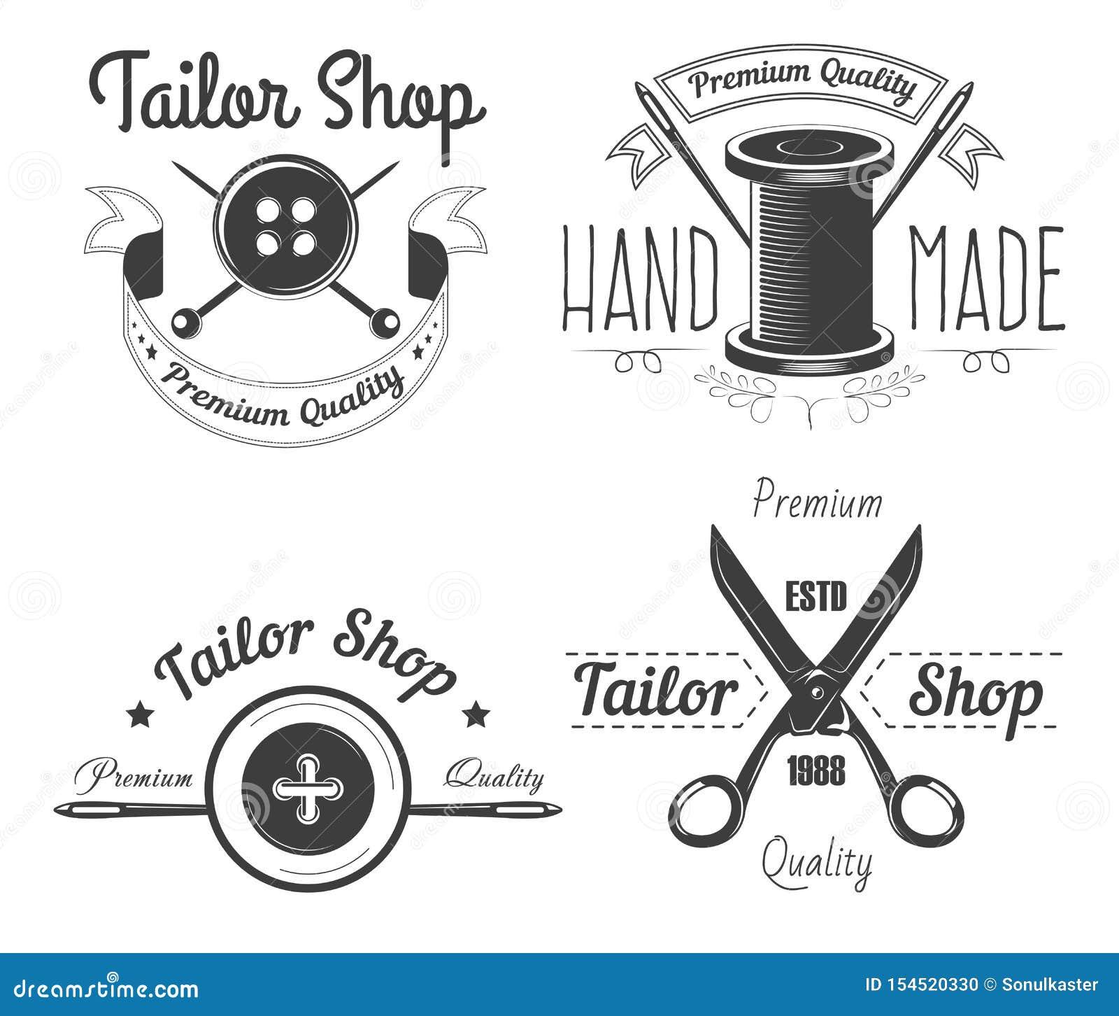 Las herramientas de costura adaptan la tienda aislaron la adaptación de los iconos y la reparación de la ropa