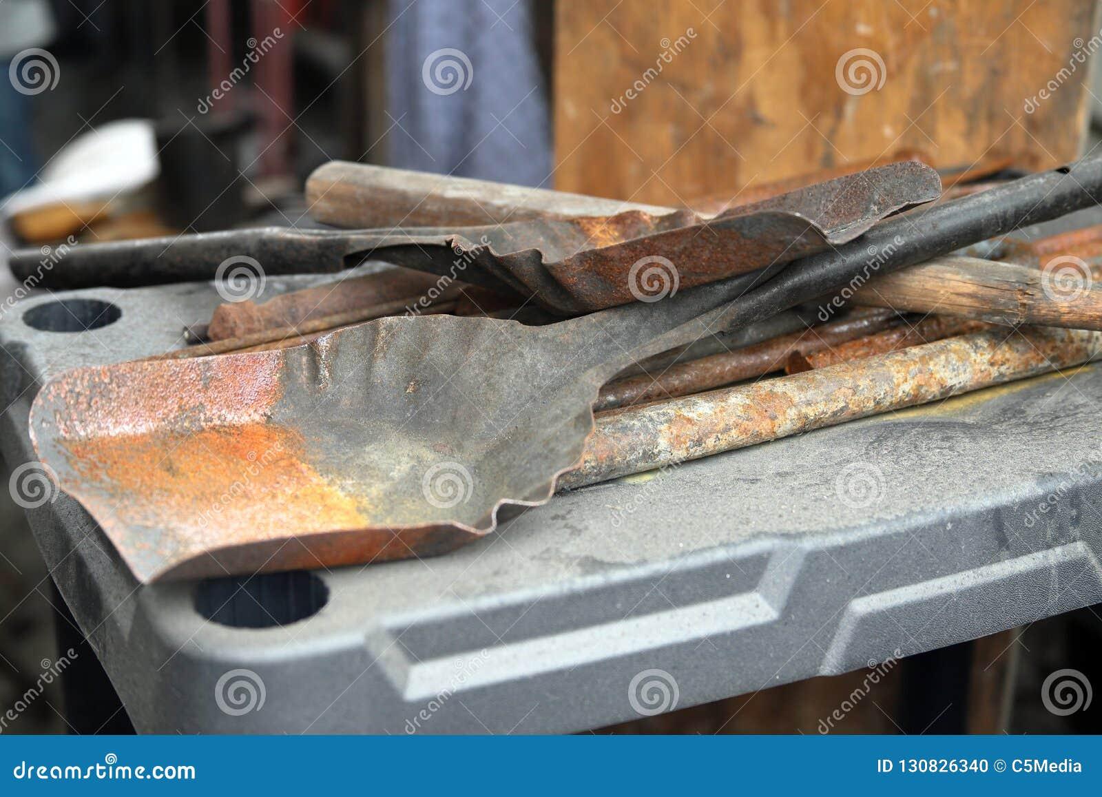 Las herramientas de la tienda de Balcksmith traspalan