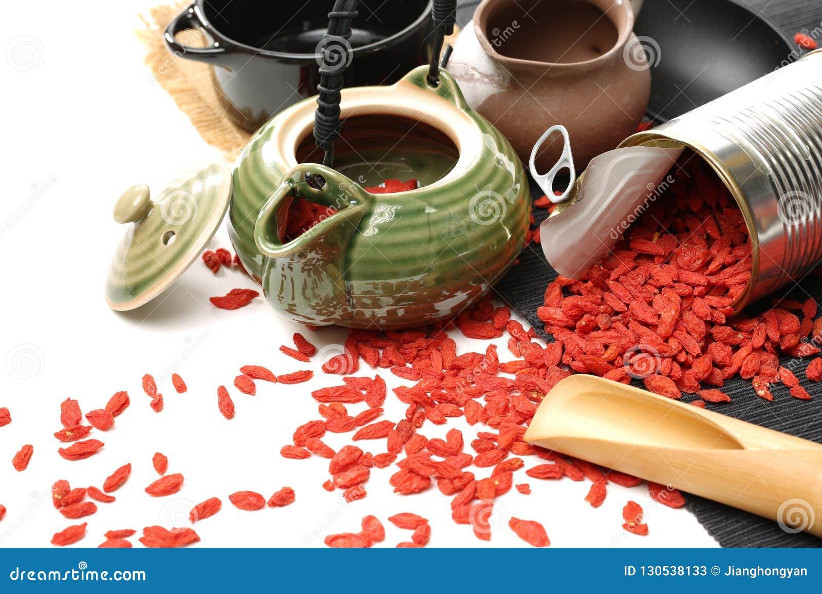 Las hierbas del chino tradicional secaron wolfberry