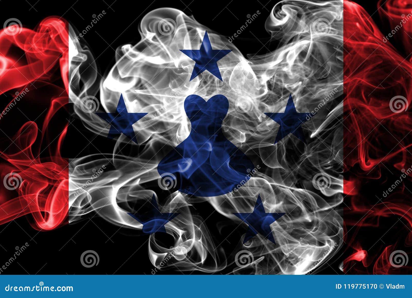 Las islas australes fuman la bandera, islas en Polinesia francesa