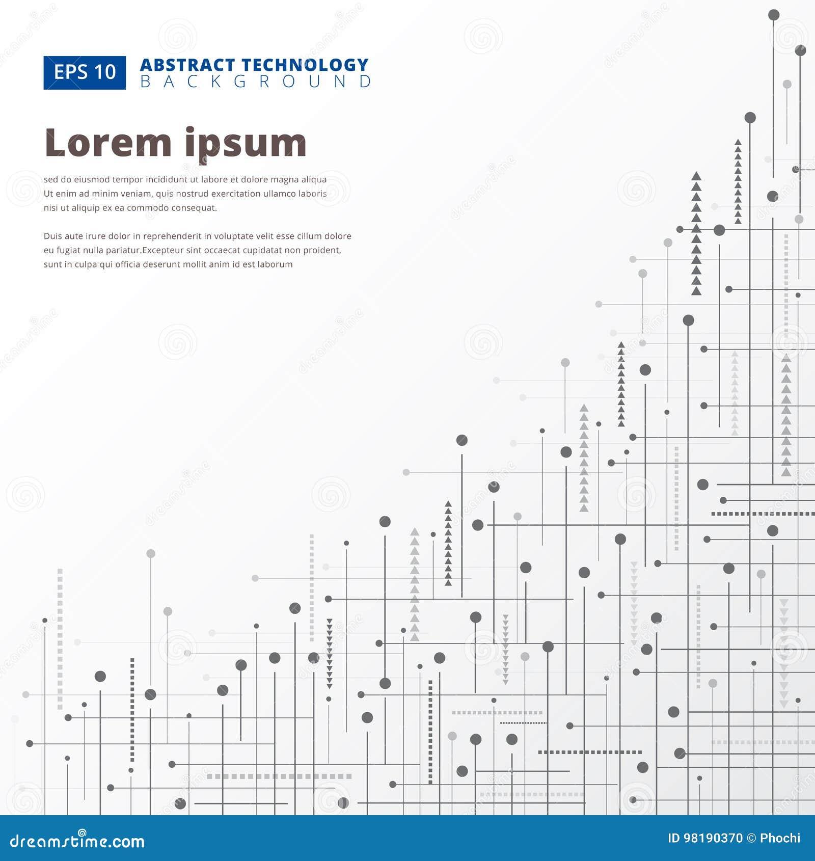 Las líneas geométricas abstractas de la tecnología digital puntean el fondo, Vec