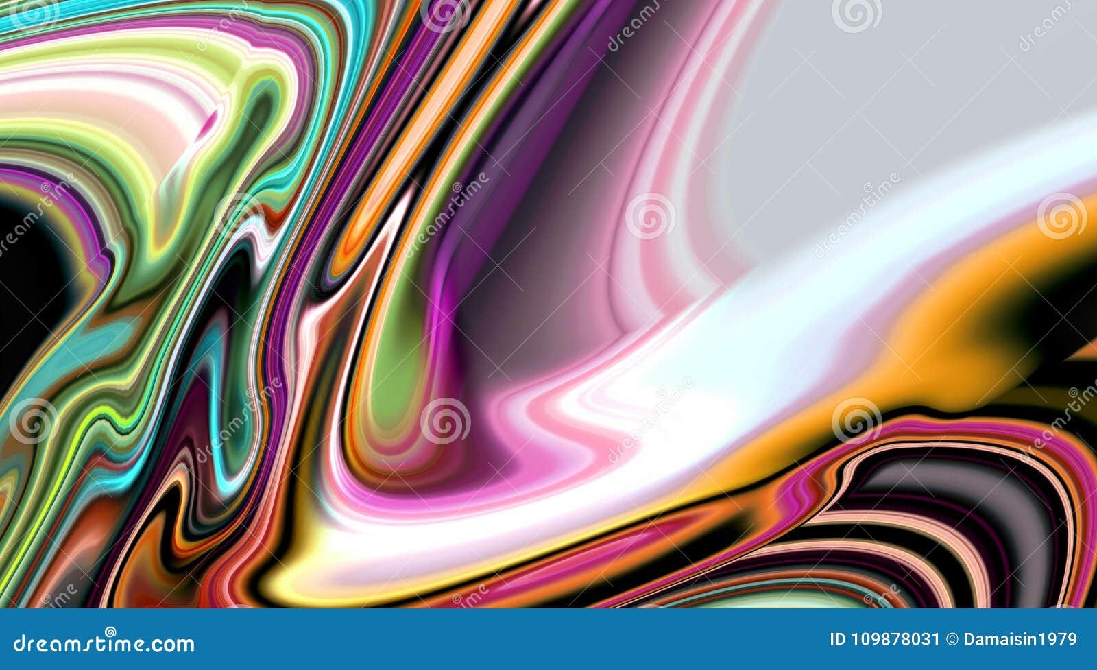 Las líneas lisas suaves vivas borrosas extracto, líneas vivas de las ondas, ponen en contraste el fondo abstracto