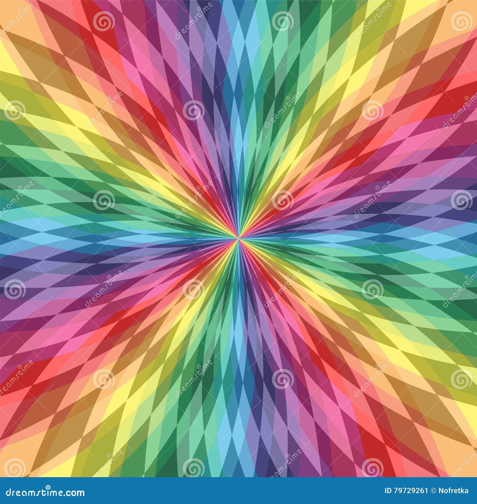 Las líneas poligonales iridiscentes se entrecruzan en el centro Modelo transparente colorido Fondo abstracto geométrico del arco