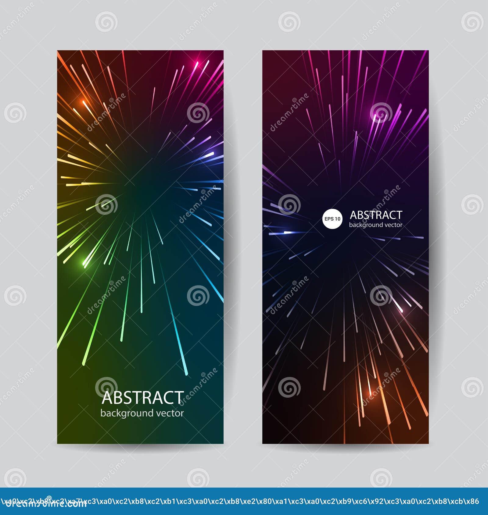 Las l?neas coloridas del extracto del vector de la bandera indican el fondo del efecto luminoso