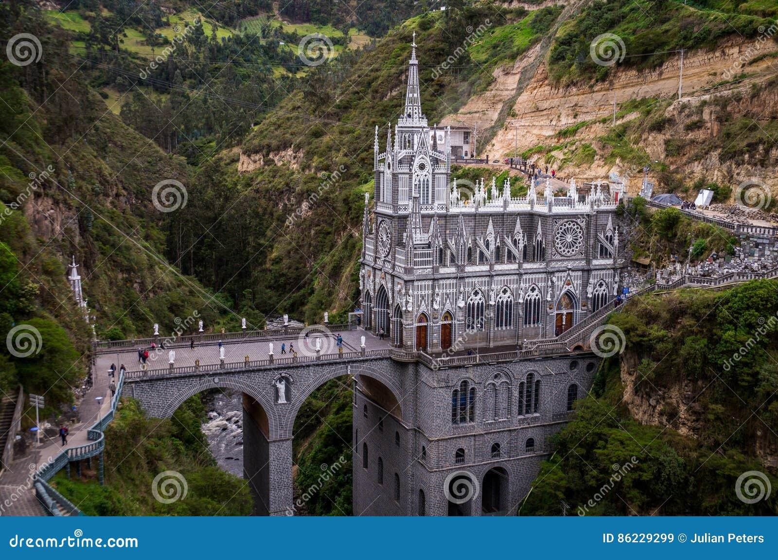 Las Lajas圣所-伊皮亚莱斯,哥伦比亚