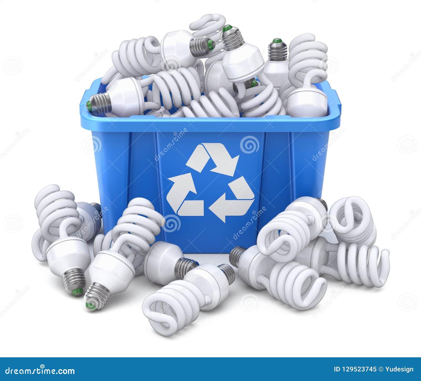 Las latas de espray en azul reciclan el cajón
