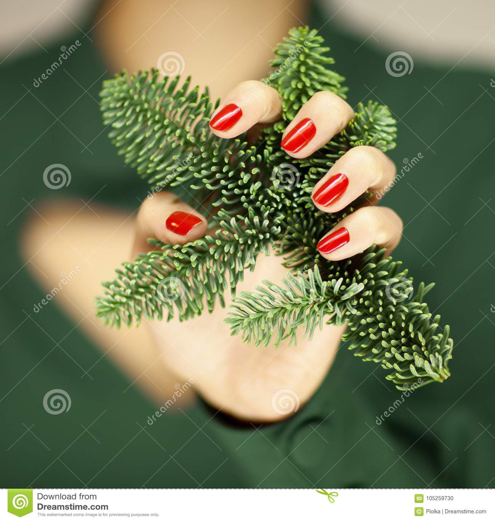 Encantador Uñas Rojos De La Navidad Imágenes - Ideas Para Pintar ...