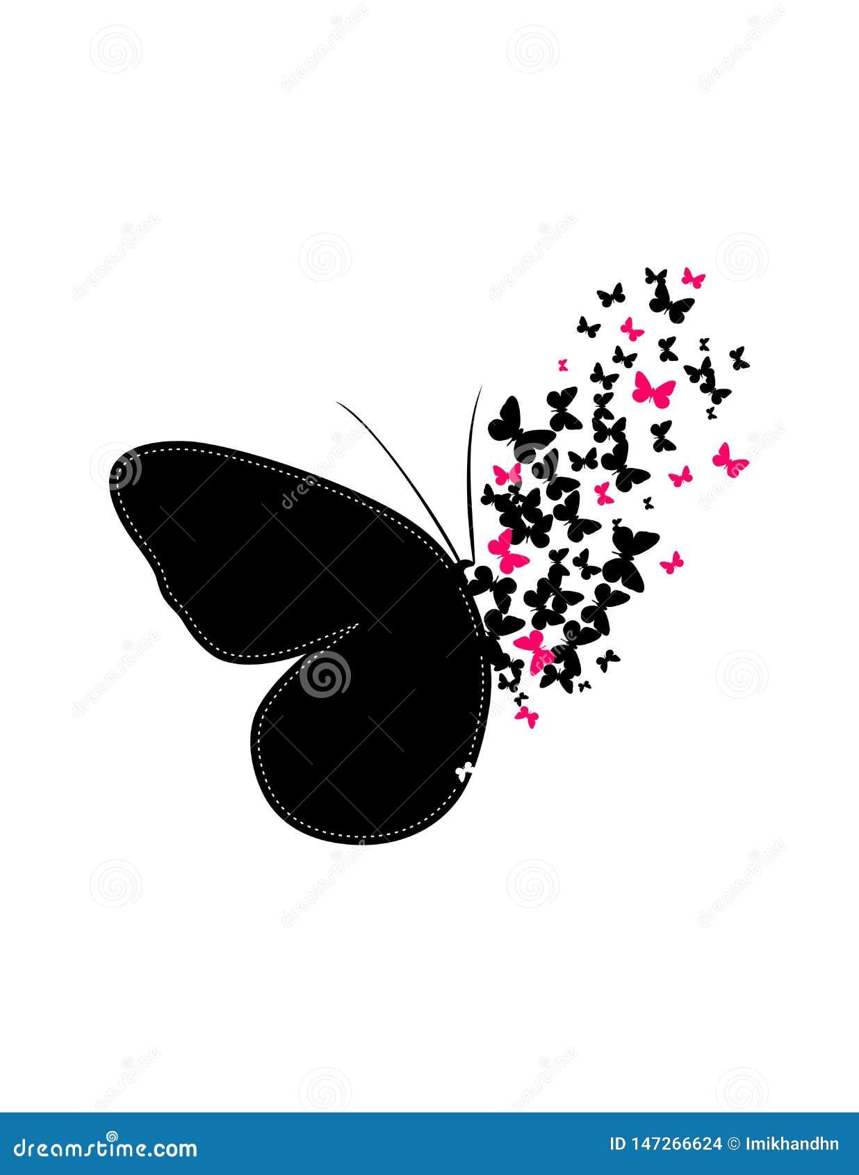 Las mariposas hacen la imagen grande juntas