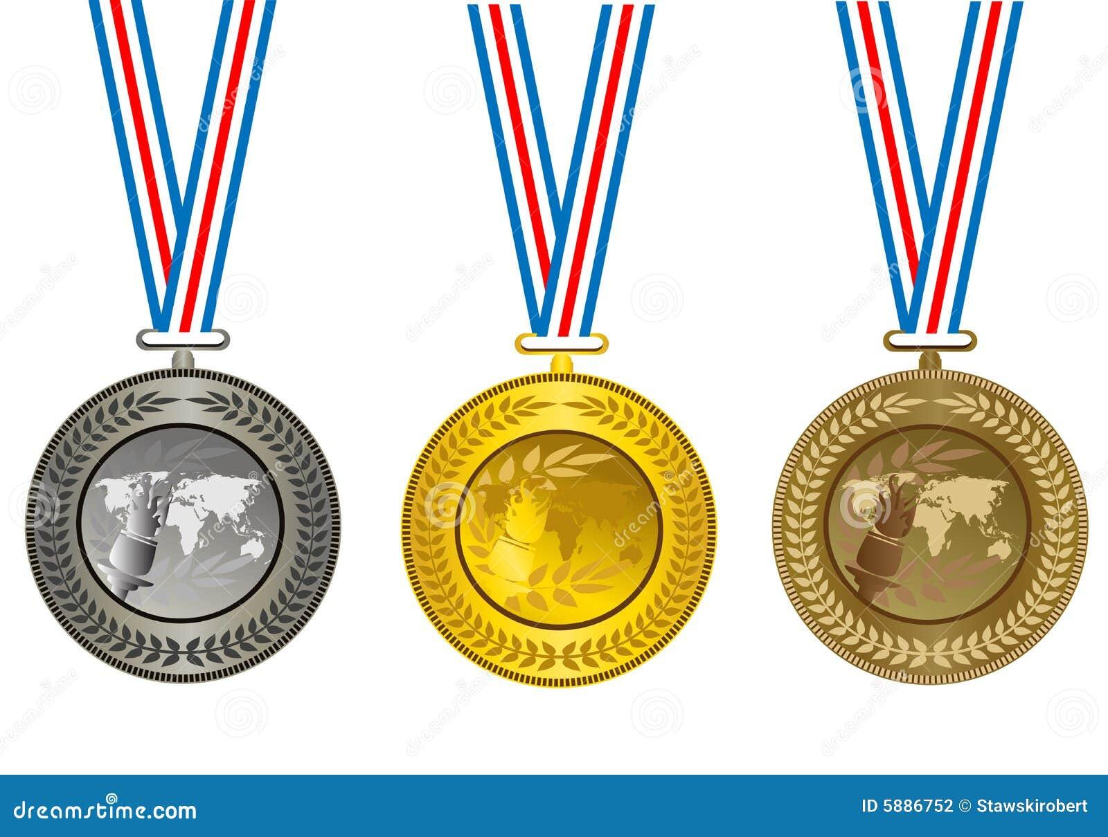 Las medallas ilustración del vector. Ilustración de gráfico - 5886752