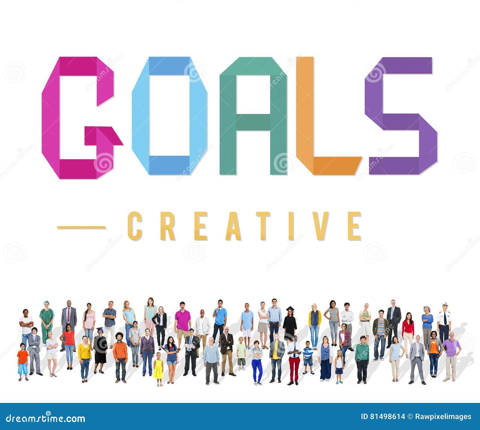 Las metas apuntan concepto Motivative de la inspiración de Vision de la blanco