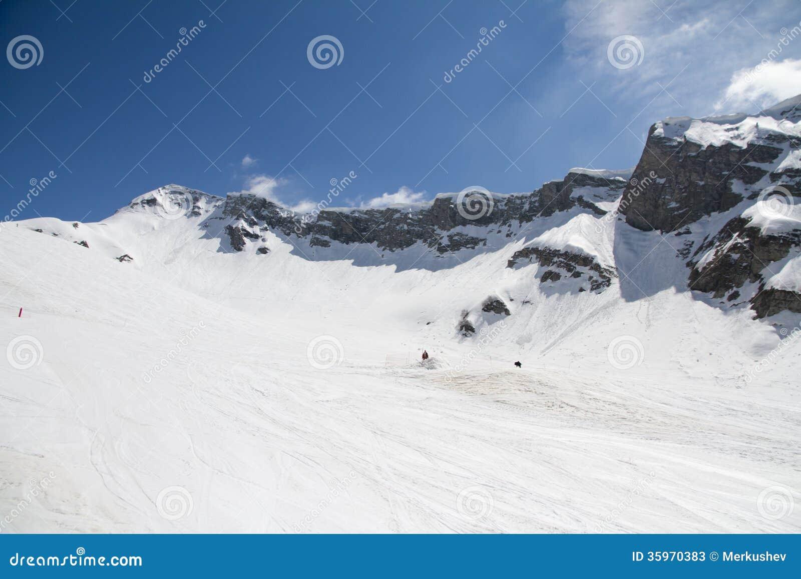 Las montañas en Krasnaya Polyana, Sochi, Rusia
