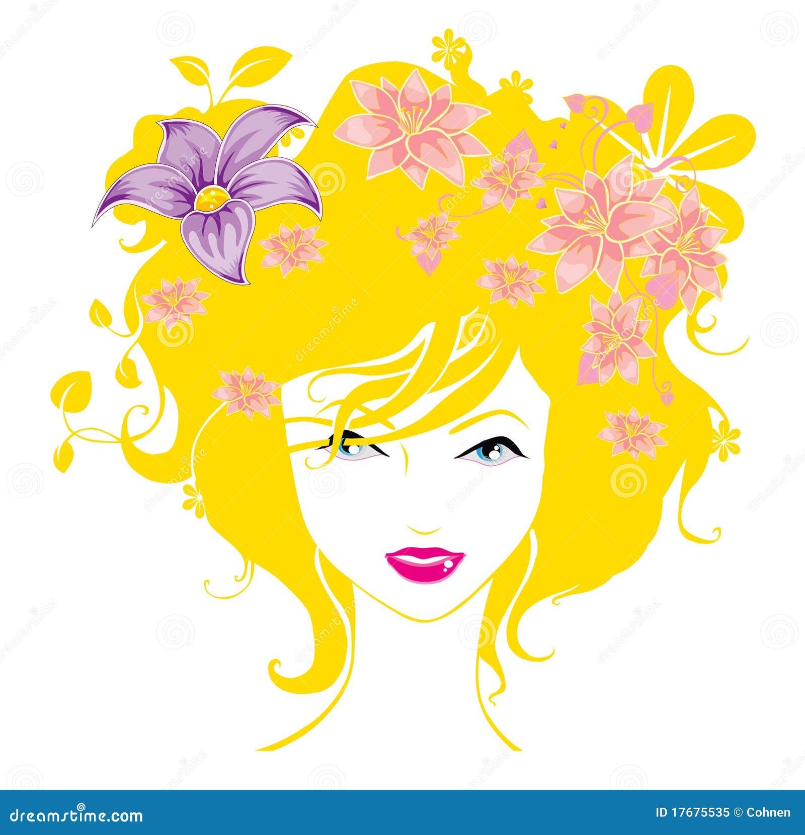 Las Mujeres Abstractas Quieren La Ilustración De Las Flores