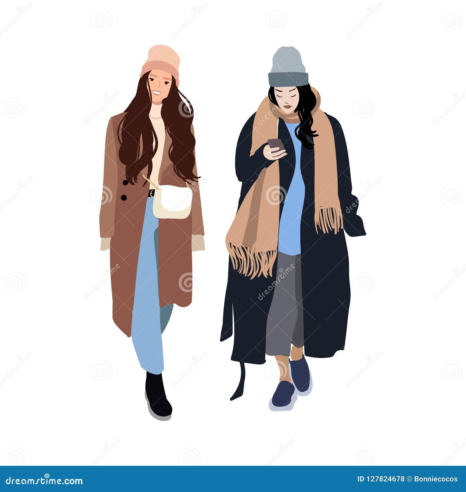 Las Mujeres Jovenes O Las Muchachas Se Vistieron En La Ropa De Moda