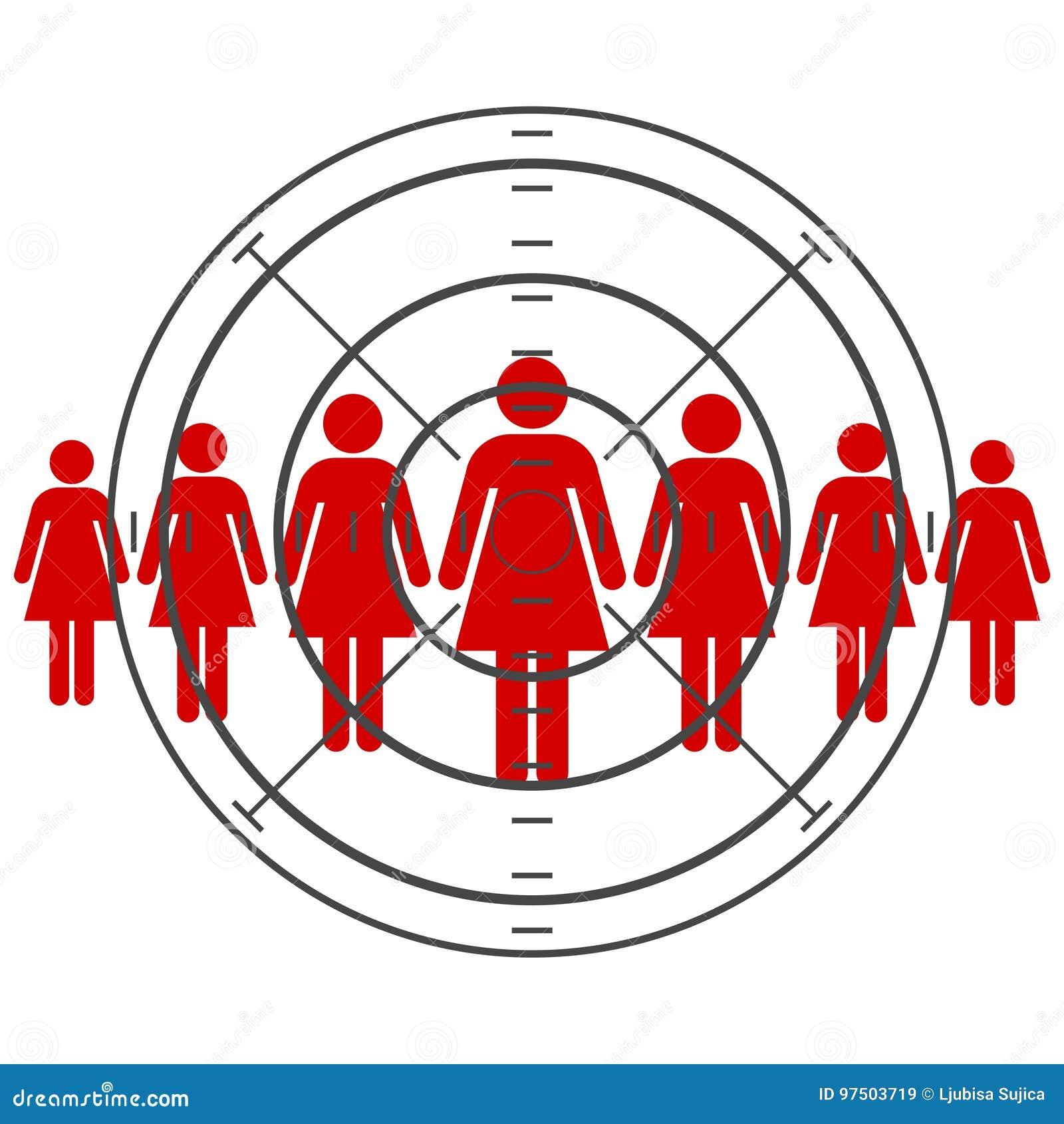 Las mujeres se están colocando, consumidor apuntado