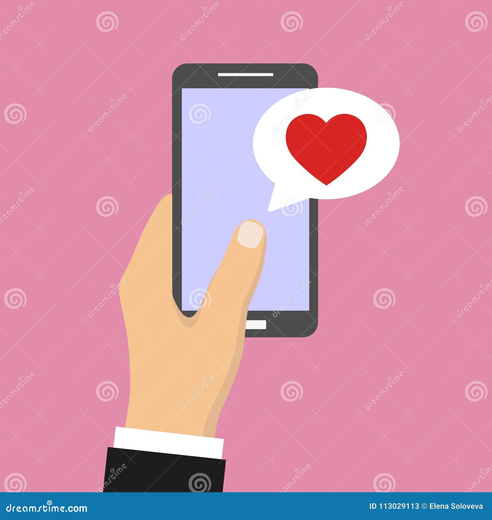 Las notificaciones del mensaje de la charla del teléfono móvil vector el ejemplo aislado en fondo del color,