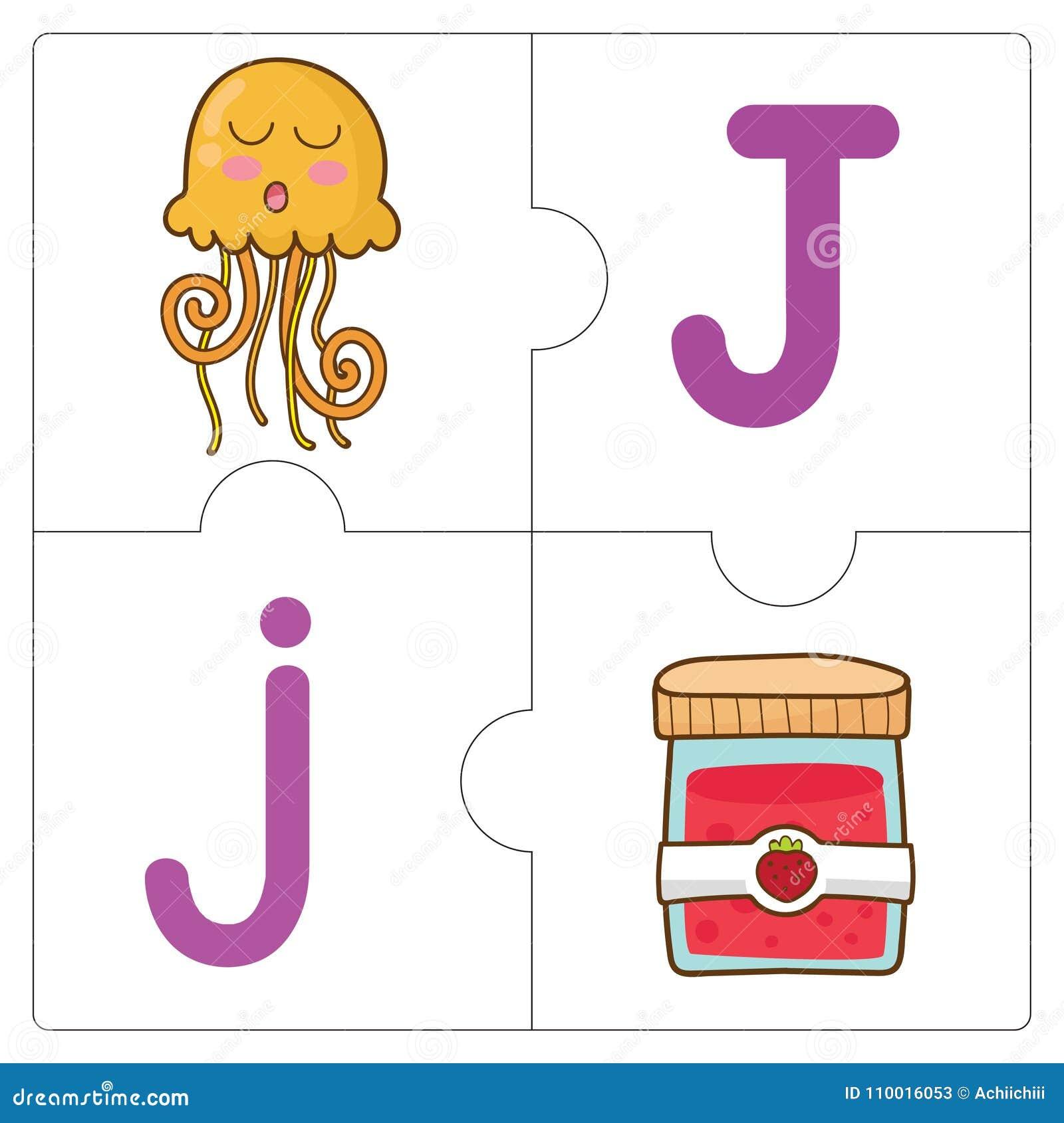 Las Palabras Del Partido Del Rompecabezas - J Ilustración del Vector ...